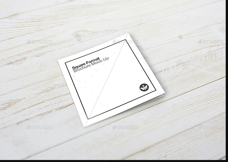 small Square Booklet Mockup