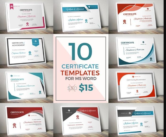 10 Modern Certificate Template Word