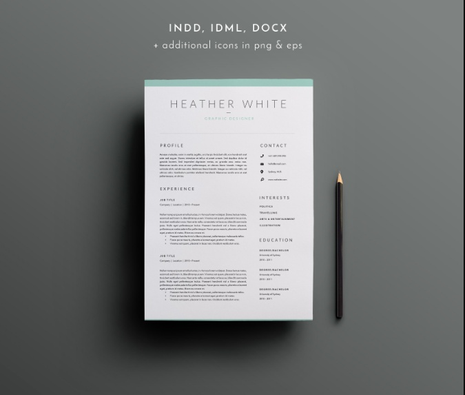 3 Page IT Resume Template