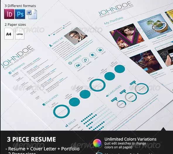 3 Piece Resume Template