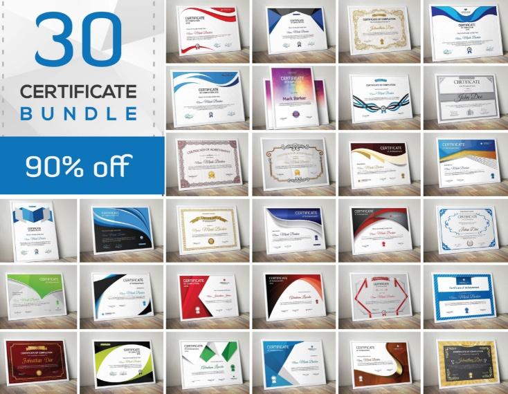 30 Certificate Template Bundle