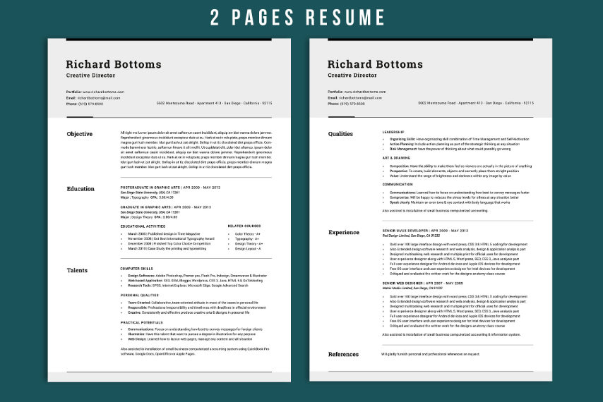 15  functional resume template word  eps  psd and indesign format