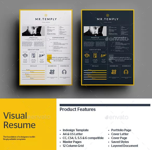 A4 Infographic Resume Template