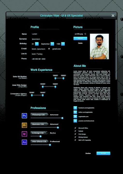 A4 Web Designer Resume and CV Template