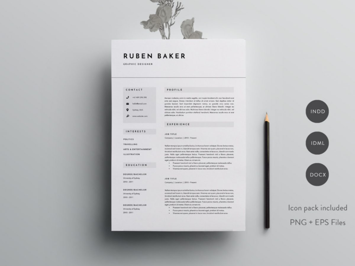 21 Engineer Resume Template Designs Indesign Psd Ai