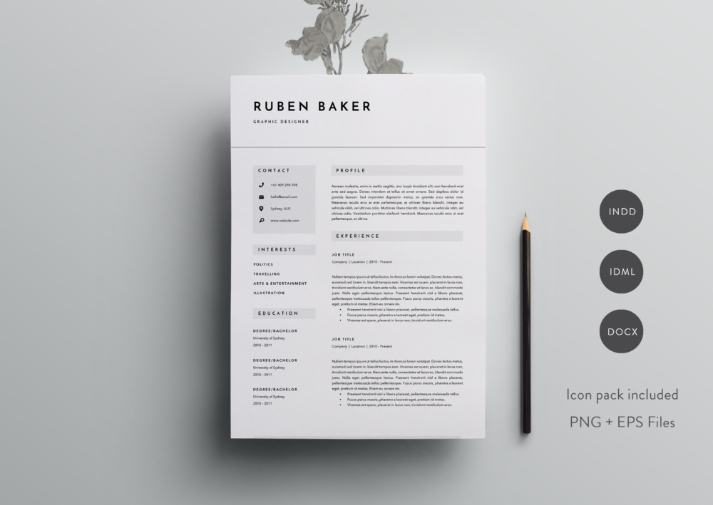 A4 And US Letter Engineer Resume Template