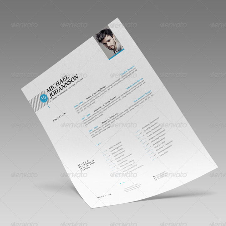 A4 and US Letter Web Designer Resume Template