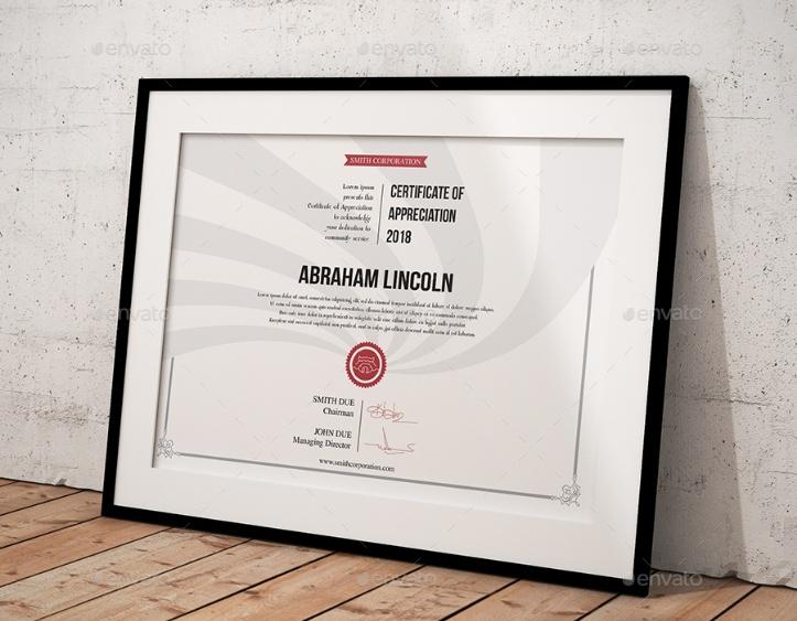 Ai Certificate of Appreciation Template