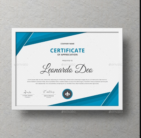 Ai and PSD Certificate Template