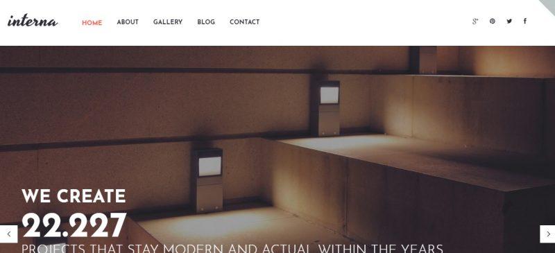 Architecture Parallax WordPress Theme