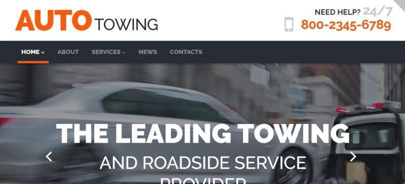 Auto Service Parallax WordPress Theme