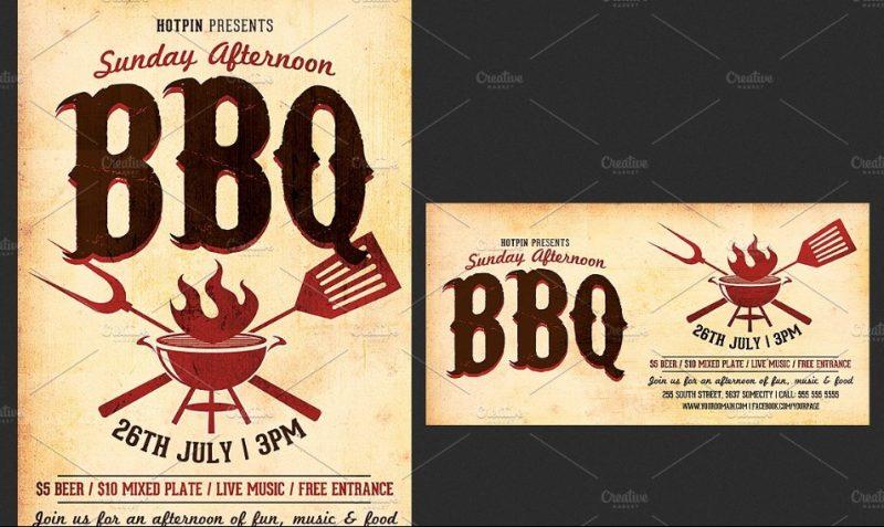 BBQ Flyer Template PSD