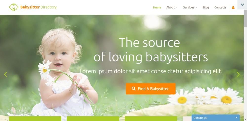 Baby Sitter WordPress Directory Theme