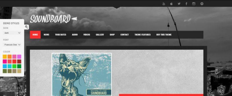 Band Artists WordPress Theme