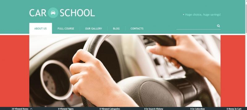 Best Driving School WordPress Theme