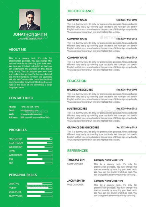 Best Resume Template Design