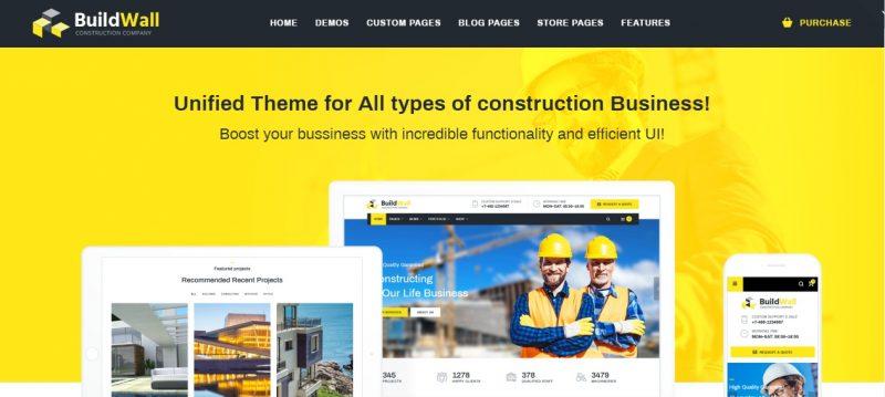 Best Selling Construction WordPress Theme