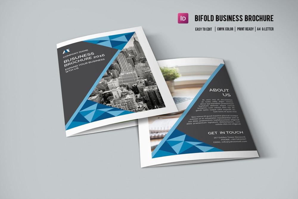 Bi Fold Corporate Brochure Template