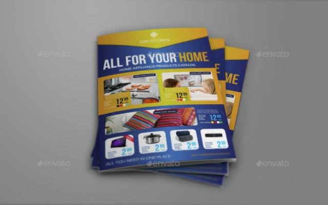 Bi Fold Product Brochure Template