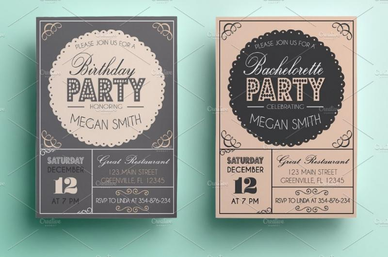 Birthday Invitation Template PSD