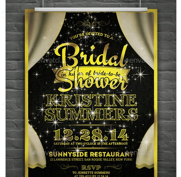 Bridal Shower invite Template