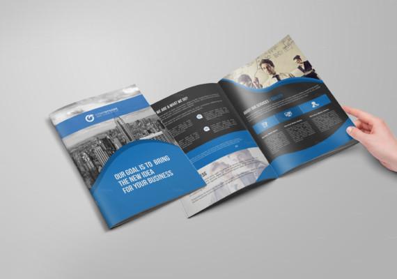 Business Bi Fold Brochure Template