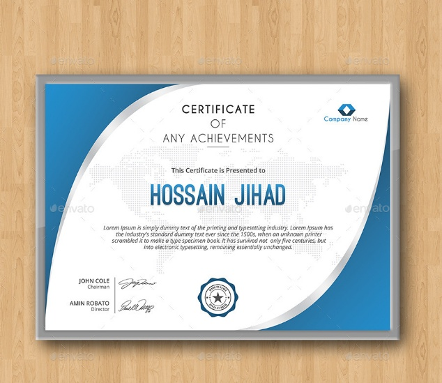 Certificate of Reognition Template