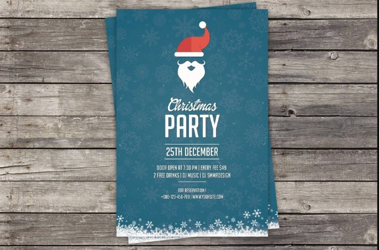 Christamas Party Invitation Template