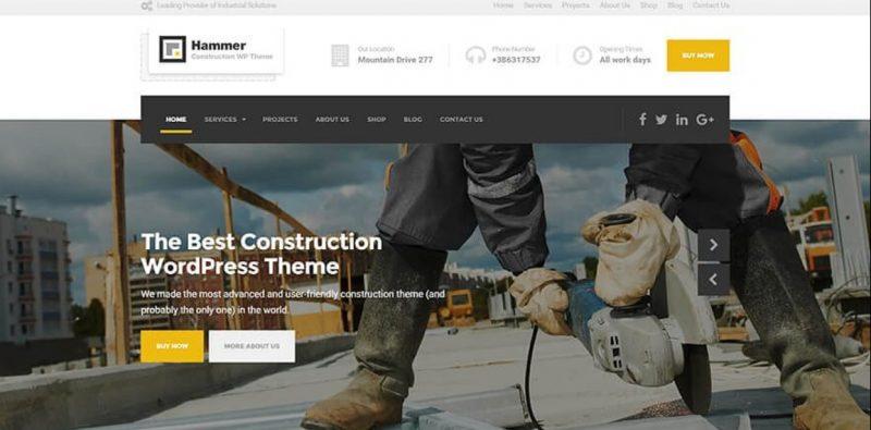 Clean Construction wordPress Theme