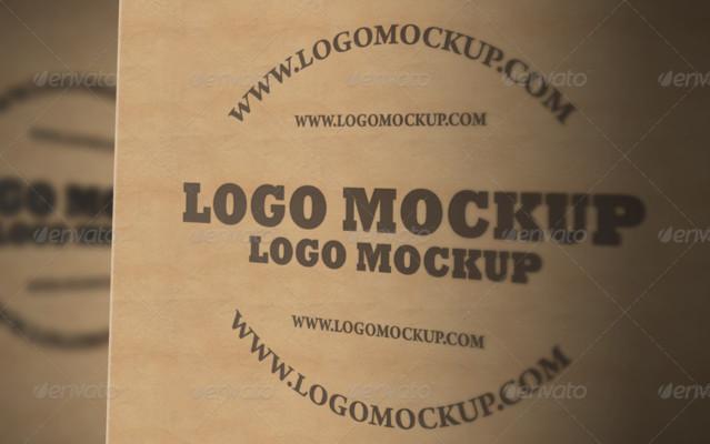 Clean Logo Mockup PSD