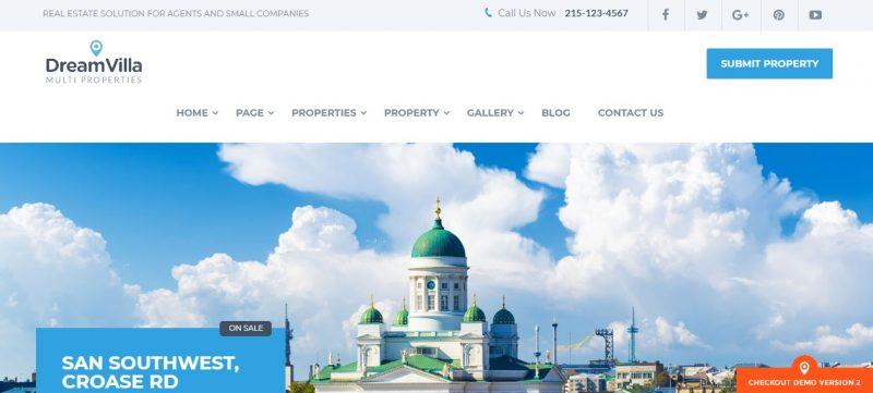 Clean Real Estate WordPress Theme
