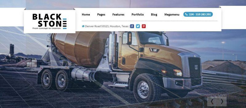 Construction Portfolio WordPress Theme