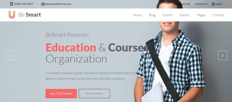Courses Education WordPress Theme
