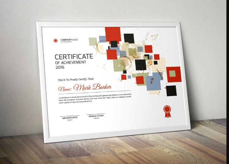 Creative Certificate of Achievement Template