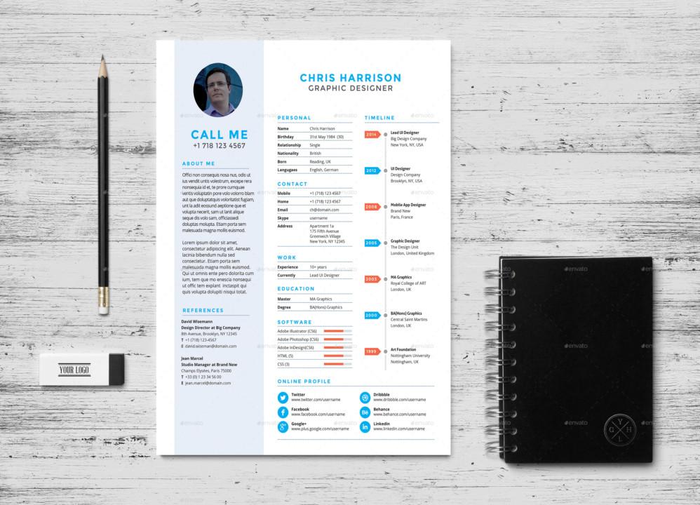 Creative Graphic Designer Resume Template