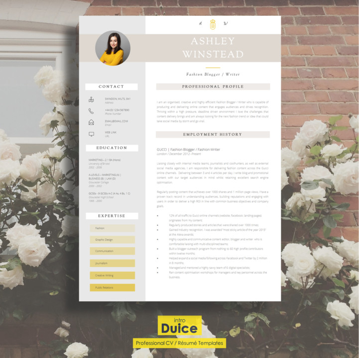 Customisable Professional Resume Template