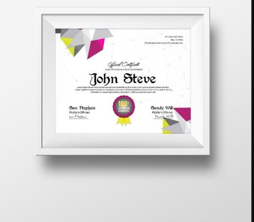 Customizable Diploma Certificate Template