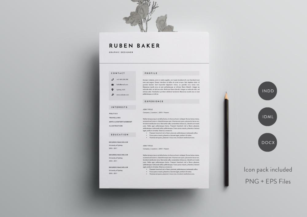 Customizable Resume Template