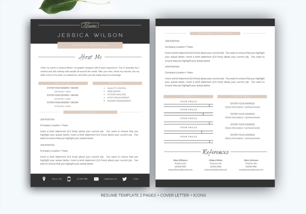 Customizable Web Designer Resume Template