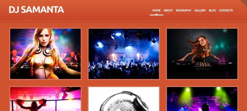 DJ Artist WordPress Theme