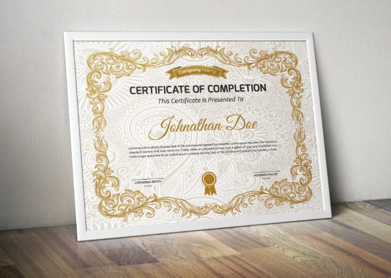 Decorative Certificate Template PSD