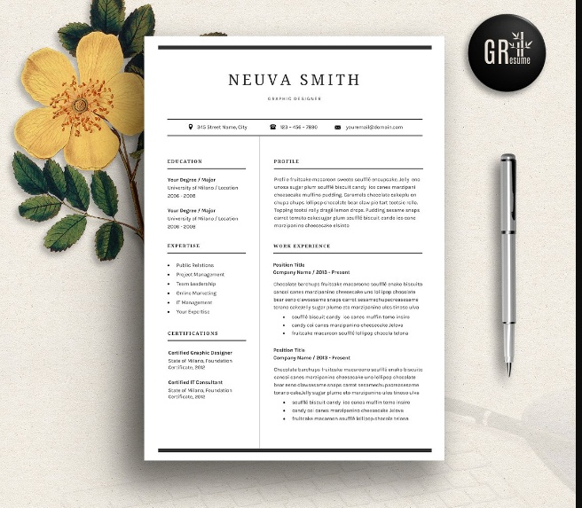 Designer Resume and Cover Letter Template