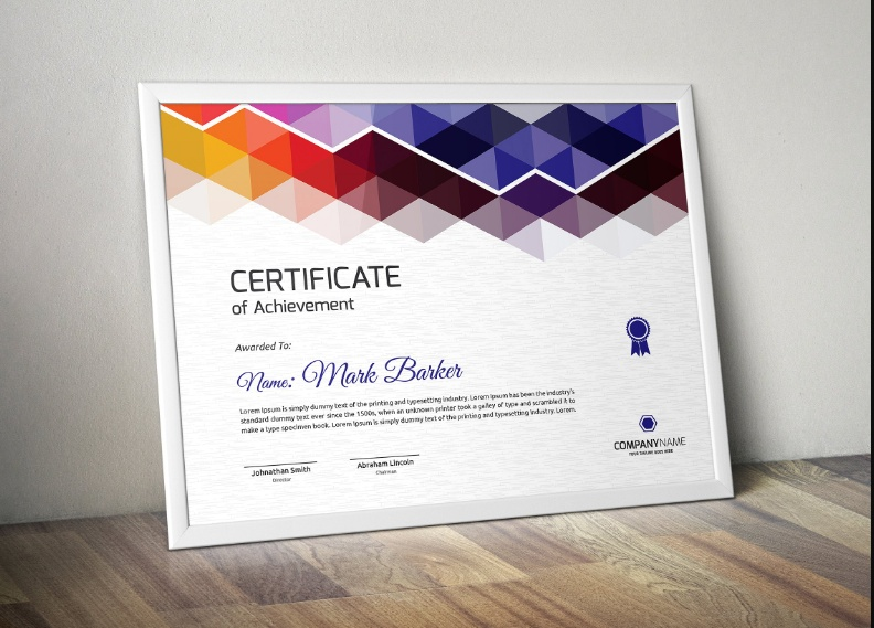 EPS Diploma Certificate Template