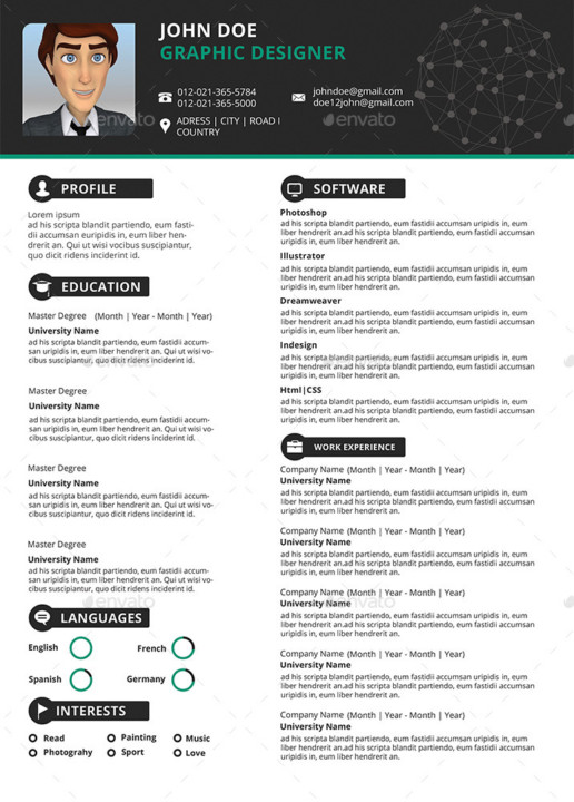 Easy Customizable Resume Template