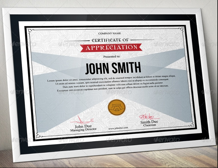 Easy Editable Certificate of Appreciation Template