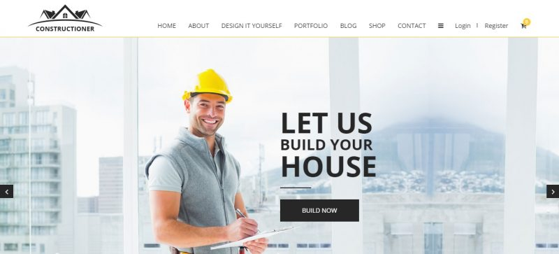 Easy Usable Construction WordPress Theme