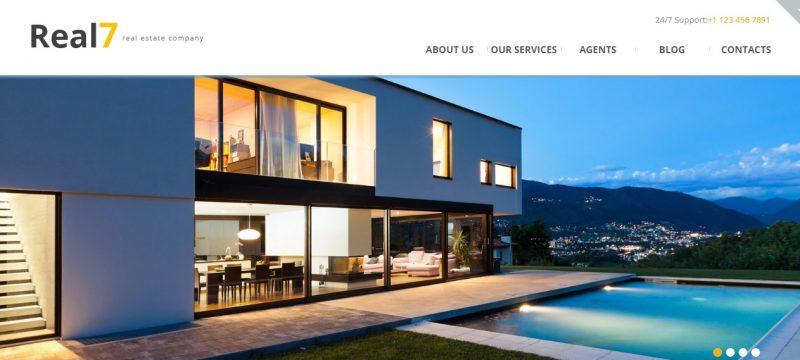 Editabe Real Estate WordPress Theme