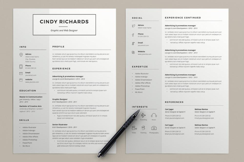 Editable A4 Resume Template