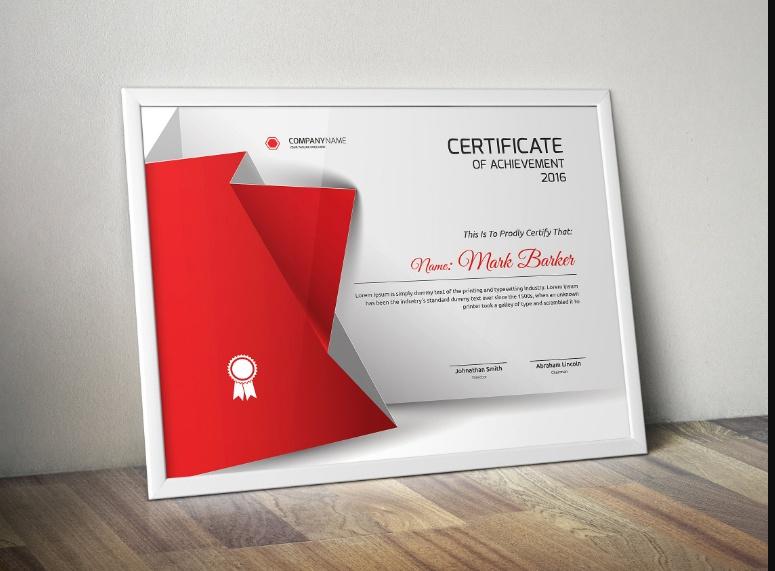 Editable Achievement Certificate Template