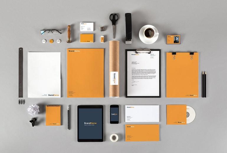 Editable Branding Mockup PSD